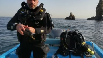 First diver certified first level CCR diver with Nautilus