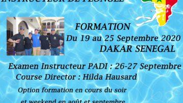 Formation d'Instructeurs PADI septembre 2020 Dakar