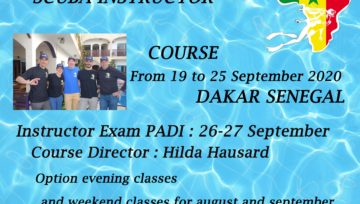 PADI Instructor course Dakar September 2020